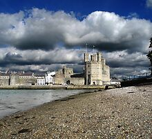 Caernarfon Castle, North Wales by warrenphotog