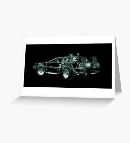 light delorean Greeting Card