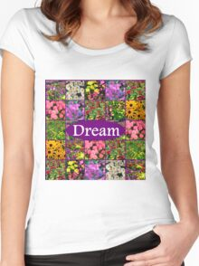 DREAMS COMES TRUE Women's Fitted Scoop T-Shirt