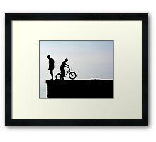 Kids silhouette Framed Print