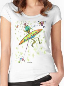 Alien Landing Women's Fitted Scoop T-Shirt
