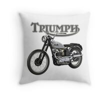 Triumph TR5 Trophy 1949 (The Fonz) Throw Pillow