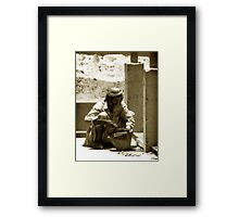 ...and the work goes on. Framed Print