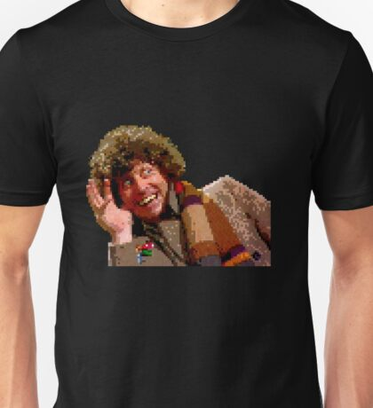 8-Bit? But he's the Fourth Doctor! Unisex T-Shirt