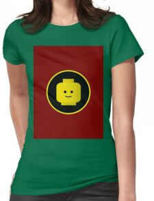 MINIFIG HAPPY FACE Womens Fitted T-Shirt