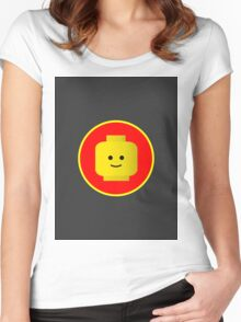 MINIFIG HAPPY FACE Women's Fitted Scoop T-Shirt