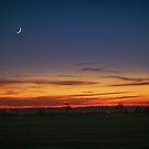 New Moon at Sunset by Vicki Field