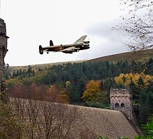Lancaster VR-A at the Derwent Dam by Gary Eason + Flight Artworks