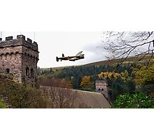 Lancaster VR-A at the Derwent Dam Photographic Print