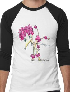 Pink Poodle Men's Baseball ¾ T-Shirt