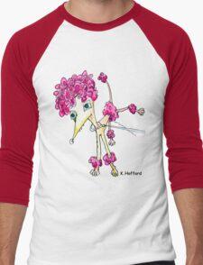 Pink Poodle Men's Baseball ¾ T-Shirt