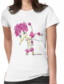 Pink Poodle Womens Fitted T-Shirt