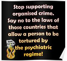 Stop the organised crime Poster