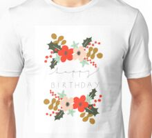 Floral Happy Birthday Unisex T-Shirt