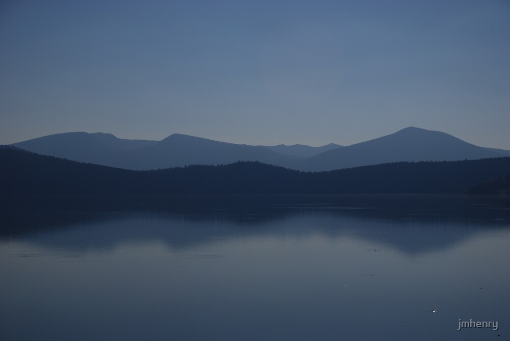 Klamath Lake At Dusk by jmhenry