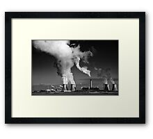 Fiddlers ferry Power Station, Monochrome Framed Print