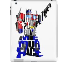 Optimus Prime iPad Case/Skin