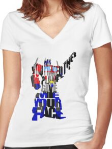 Optimus Prime Women's Fitted V-Neck T-Shirt