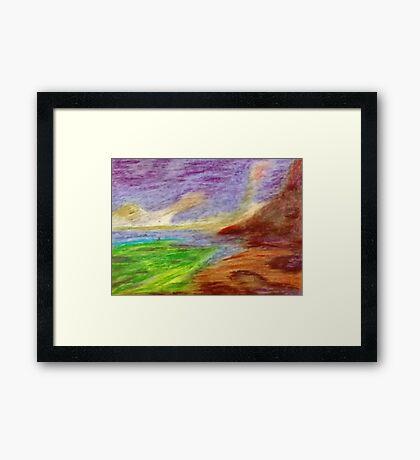 Mountain Coast Framed Print
