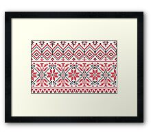 Red and Black Knitting Pattern 3 Framed Print