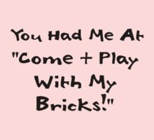 You Had me at Come and Play with My Bricks Kids Clothes