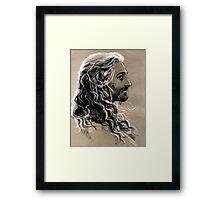 flowing hair Framed Print
