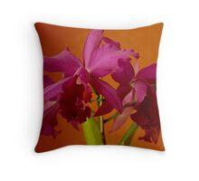 Purple Cattleya Throw Pillow