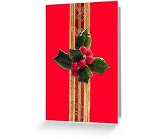 Holly greeting card Greeting Card