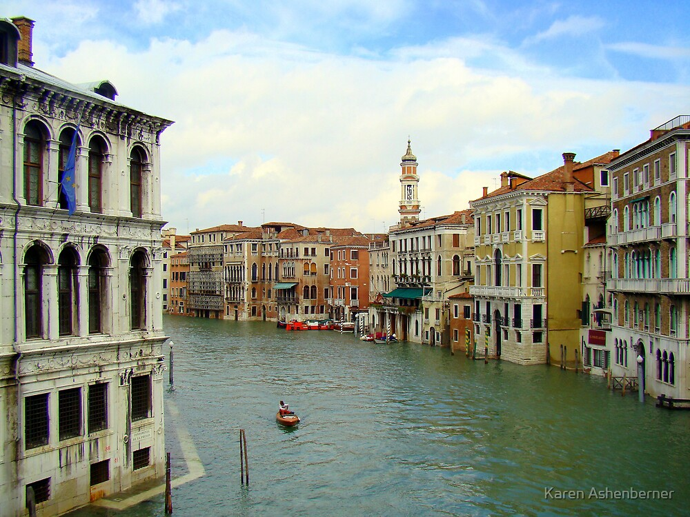 Waterway in Venice by Karen Ashenberner