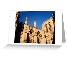 York Minster in afternoon Greeting Card