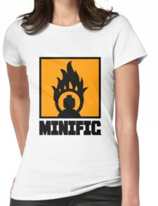 MINIFIG IN FLAME LOGO Womens Fitted T-Shirt