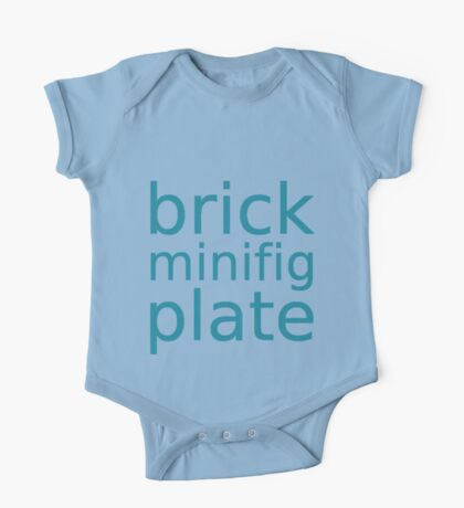 brick minifig plate One Piece - Short Sleeve