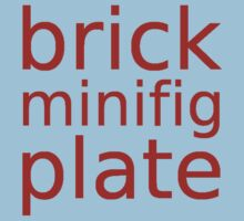 brick minifig plate  Kids Clothes