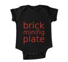 brick minifig plate  One Piece - Short Sleeve