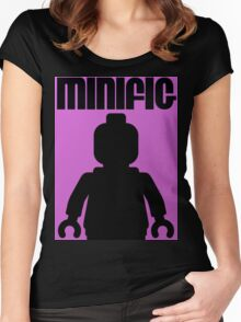 Retro Large Black Minifig Women's Fitted Scoop T-Shirt
