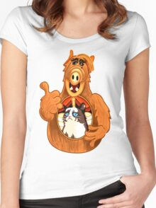 ALF Grumpy Cat  Women's Fitted Scoop T-Shirt