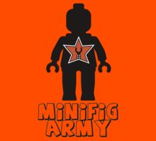 """MINIFIG ARMY"" Minifig with Customize My Minifig Star Logo Kids Tee"