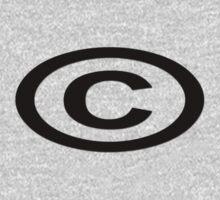 Copyright T-Shirt Unique Symbol Sticker Baby Tee