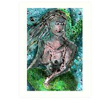 Mermaid Monotype Art Print