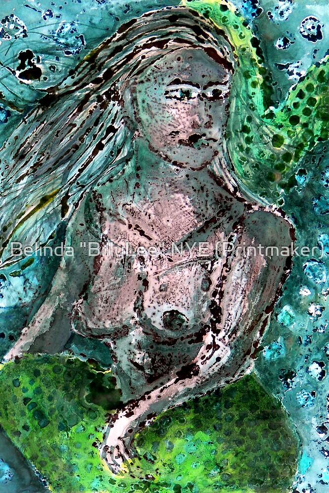 """Mermaid Monotype by Belinda """"BillyLee"""" NYE (Printmaker)"""