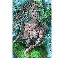 Mermaid Monotype Photographic Print