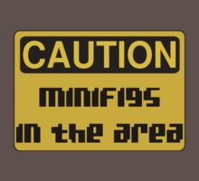 Caution Minifigs in the Area Sign Kids Clothes