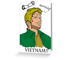 Lucifer Balck On White - Good Moring Vietnam Greeting Card
