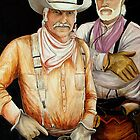 Cowboys And Horses by Susan Bergstrom