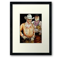 """Gus And Woodrow"" Framed Print"