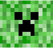 Creeper face - Minecraft Photographic Print