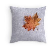 Maple on Snow Throw Pillow