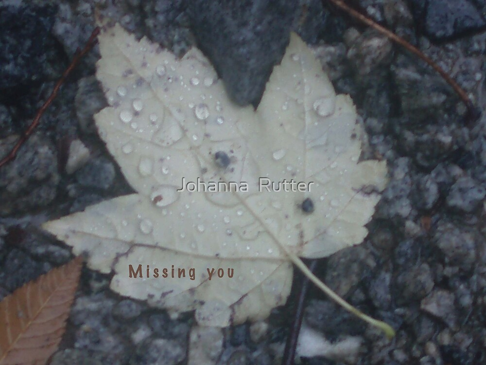 Missing you by Johanna  Rutter