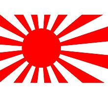 Rising Sun Flag of Japan Photographic Print