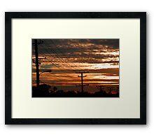 Telephone Sunset Framed Print